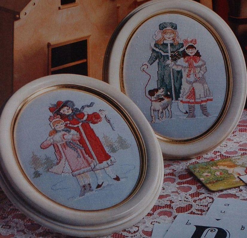 Victorian Children in Winter ~ Two Cross Stitch Charts