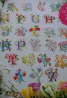 Floral ABC Alphabet Heirloom Sampler ~ Luxury Glossy Cross Stitch Chart Booklet