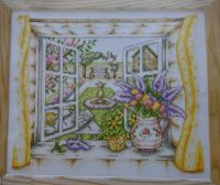 Open Window on a Summer Garden ~ Cross Stitch Chart