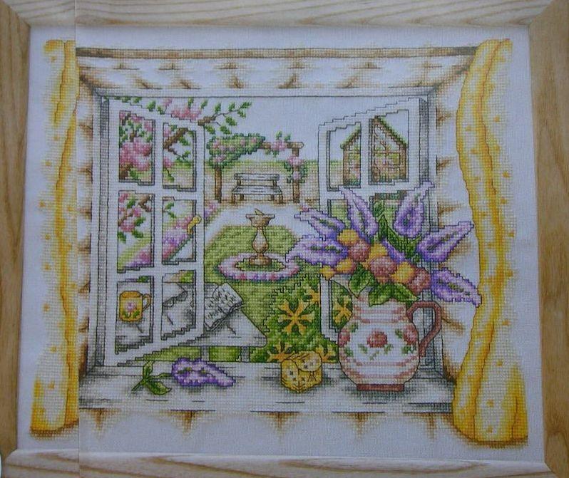 Open Window on a Summer Garden ~ Cross Stitch Chart