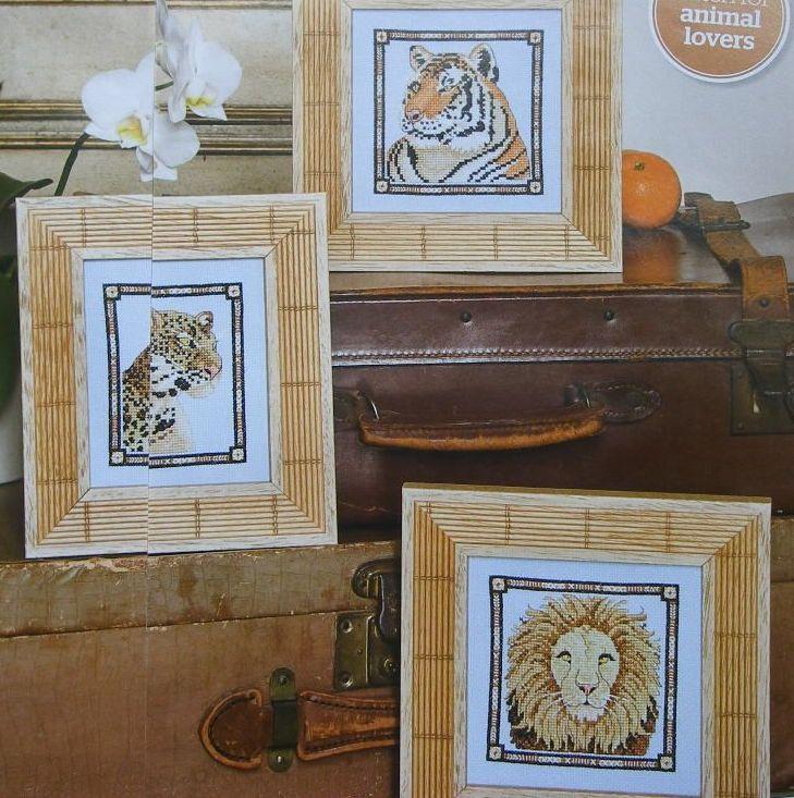 Leopard, Lion & Tiger ~ Three Cross Stitch Charts