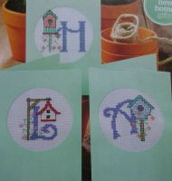 Bird House ABC Alphabet ~ Cross Stitch Chart