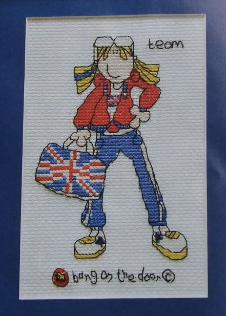 Bang On The Door ~ Team GB: Sporty Chick ~ Cross Stitch Chart