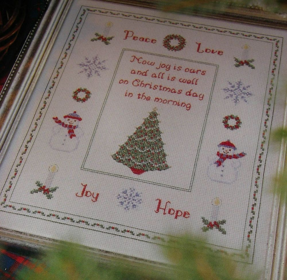 Peace Love Joy Hope ~ Christmas Cross Stitch Chart