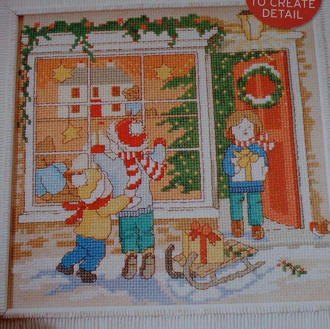 Christmas Toyshop Window Scene ~ Cross Stitch Chart