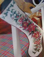 Poinsettia Christmas Stocking ~ Cross Stitch Chart
