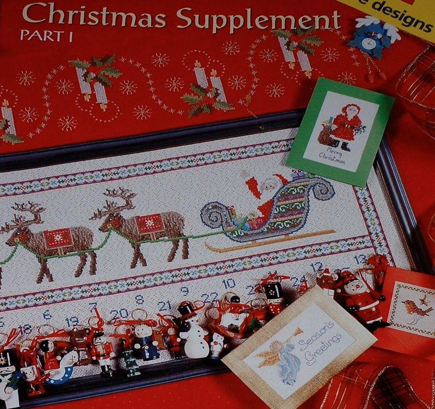 New Stitches Christmas 1999 Supplement Part 1 ~ 10 Cross Stitch Charts