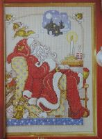Sleeping Santa ~ Cross Stitch Chart