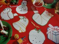 SIX Christmas Cutwork Coasters ~ Embroidery Patterns