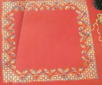 Hardanger Holly & Berries Winter Tablecloth ~ Hardanger Pattern