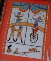 Circus - Unicyclist - Acrobats - Juggler ~ Cross Stitch Chart