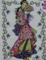 Oriental Geisha Girl ~ Cross Stitch Chart