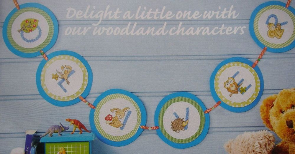 Woodland Animals & Foliage ABC Alphabet ~ Cross Stitch Chart