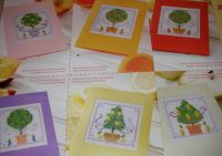 Seven Fruit Tree Cards ~ Cross Stitch Charts