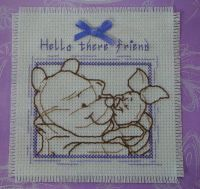Hello There Friend: Winnie the Pooh & Piglet Card ~ Cross Stitch Kit