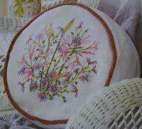 Nerines & Michaelmas Flower Cushion ~ Cross Stitch Chart