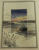 Derwent Water Designs: Sunset Scene ~ Cross Stitch Chart