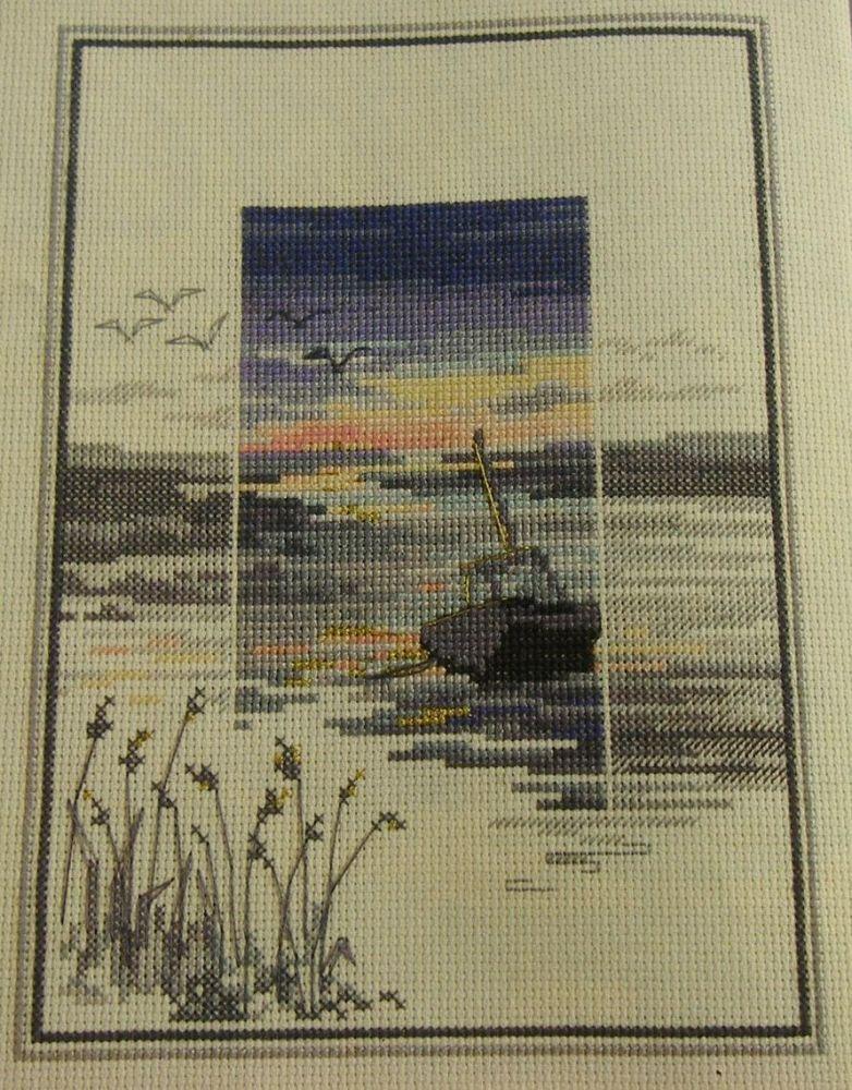 Derwent Water Designs: Sunset Scene ~ Cross Stitch Chart