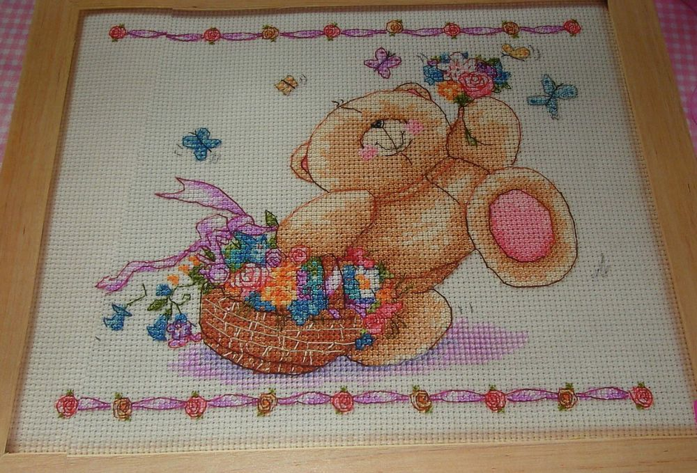 Forever Friends Bear : Basket Full of Love ~ Cross Stitch Chart