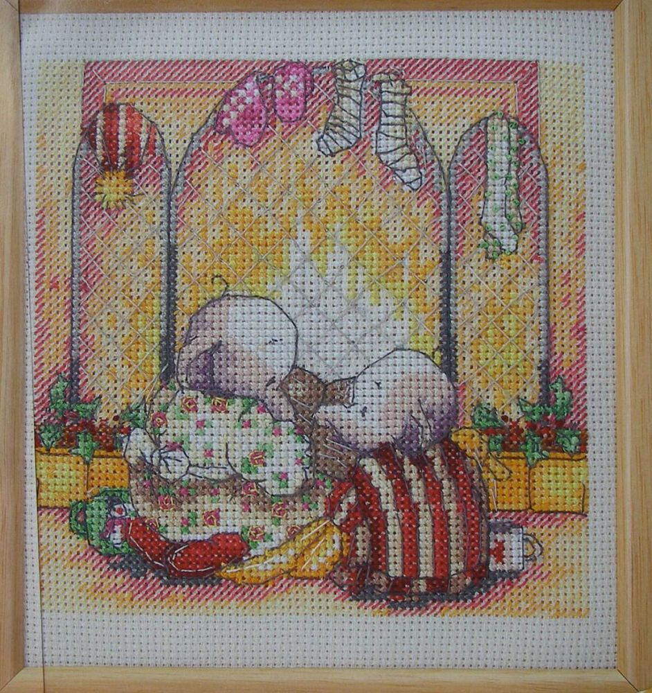 Humphrey's Corner Fireside Scene ~ Cross Stitch Chart