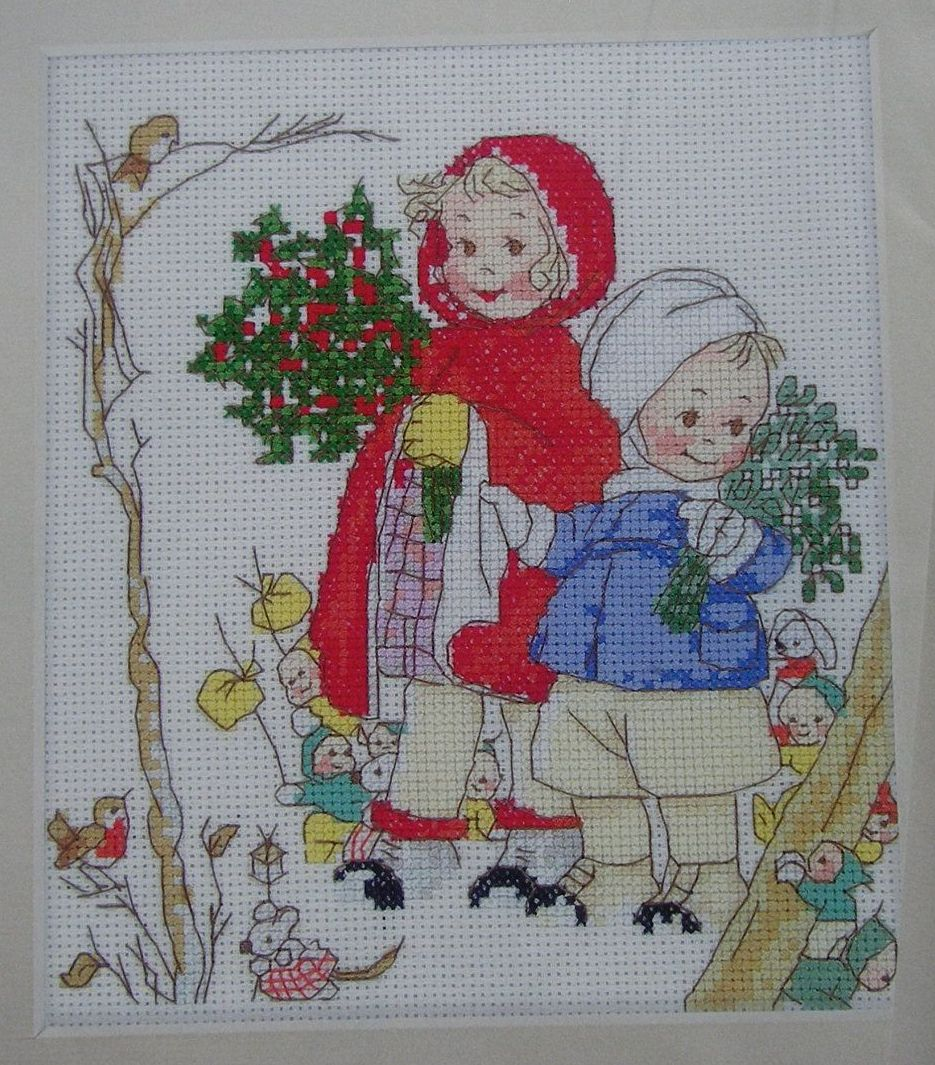 Mabel Lucie Attwell: Walking Through the Forest ~ Cross Stitch Chart