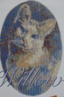 Richard Box: Willow the Mother Cat ~ Cross Stitch Chart
