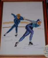 Thea Gouverneur: Speed Skaters ~ Cross Stitch Chart