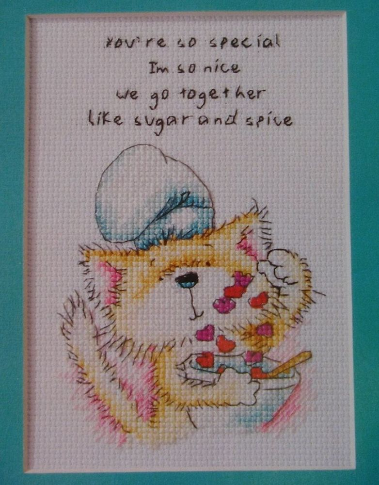 Wordsworth Cat: You're So Special ~ Cross Stitch Chart