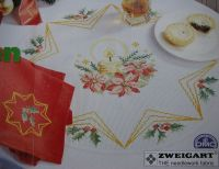 Christmas Candles & Foliage Table Linen ~ Cross Stitch Charts