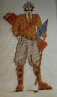 Old Fashioned Golfer ~ Cross Stitch Chart Pattern