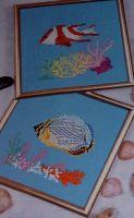 Iridescent Tropical Fish ~ Three Cross Stitch Charts