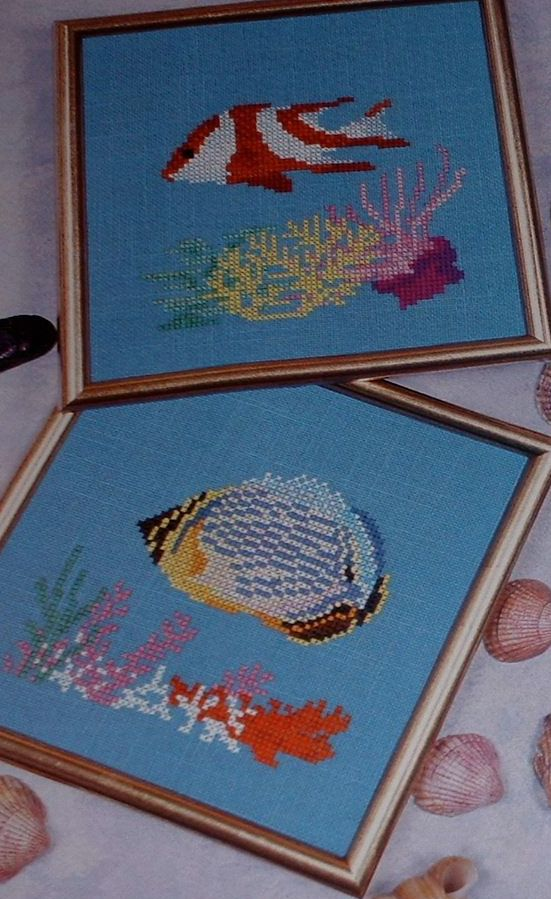 Iridescent Tropical Fish ~ Three Cross Stitch Charts