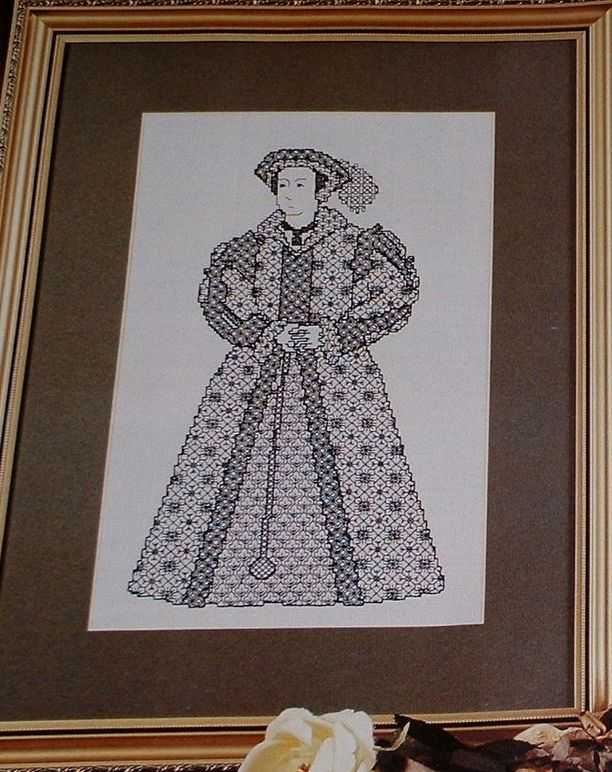 Henry VIII's Wife: Katharine Parr ~ Blackwork Chart