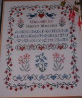 Fuchsia Flower Sampler ~ Cross Stitch Chart