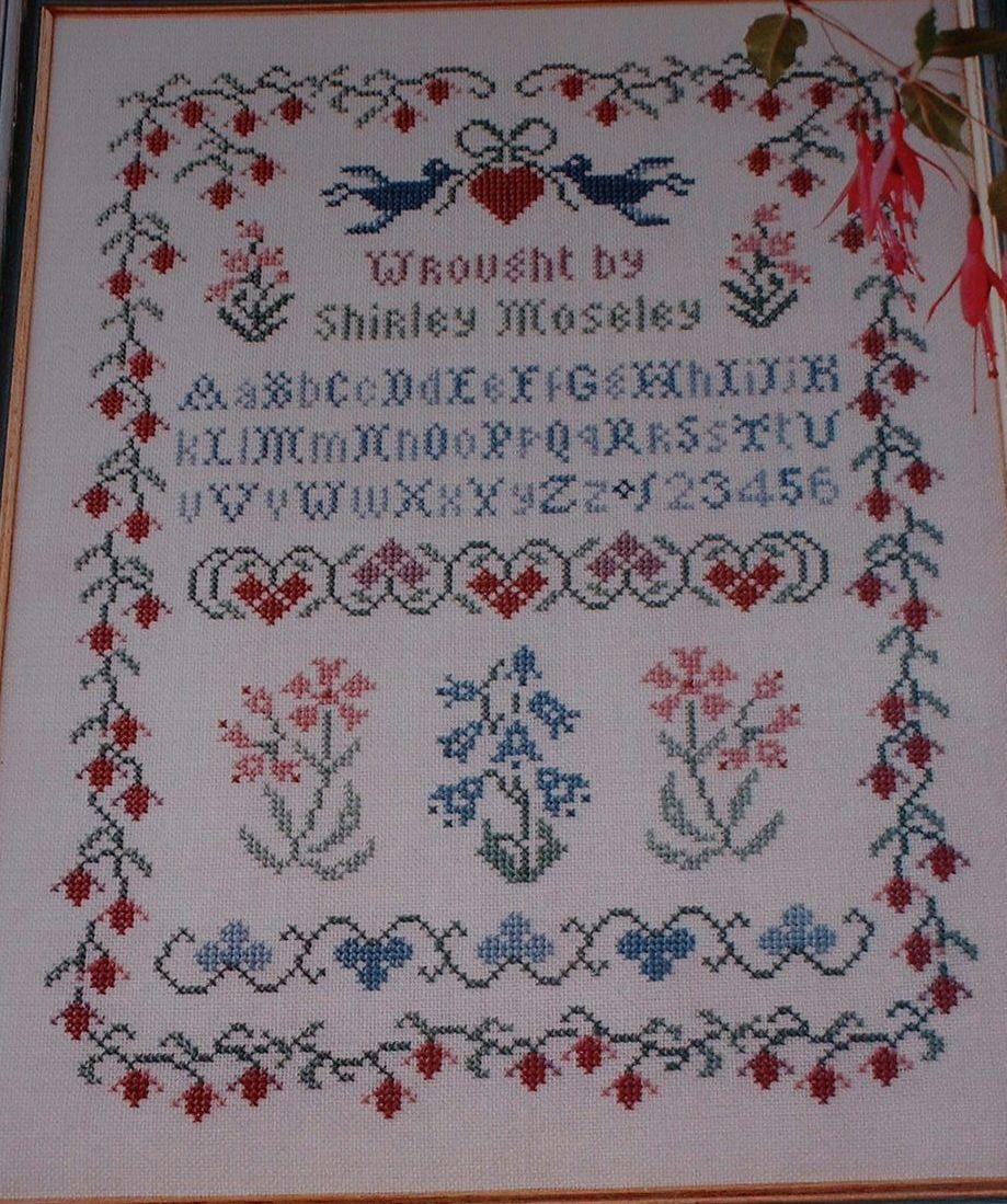 Fuchsia Flower Sampler ~ Cross Stitch Chart