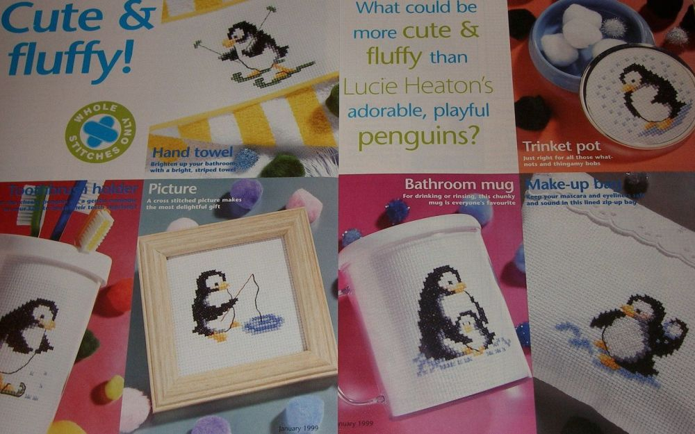 Six Penguin Cards ~ Cross Stitch Charts