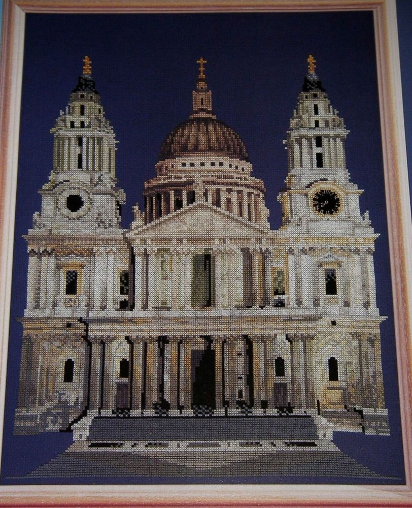 St Paul's Cathedral - London, UK ~ Cross Stitch Chart
