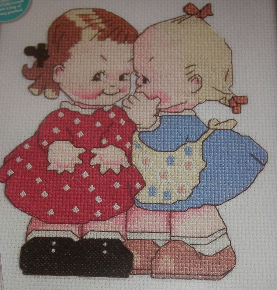 Mabel Lucie Attwell: Best of Friends ~ Cross Stitch Chart