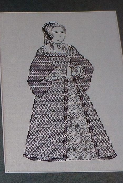 Henry VIII's Wife: Anne Boleyn ~ Blackwork Embroidery Pattern