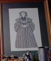Henry VIII's Wife: Anne of Cleves ~ Blackwork Embroidery Pattern