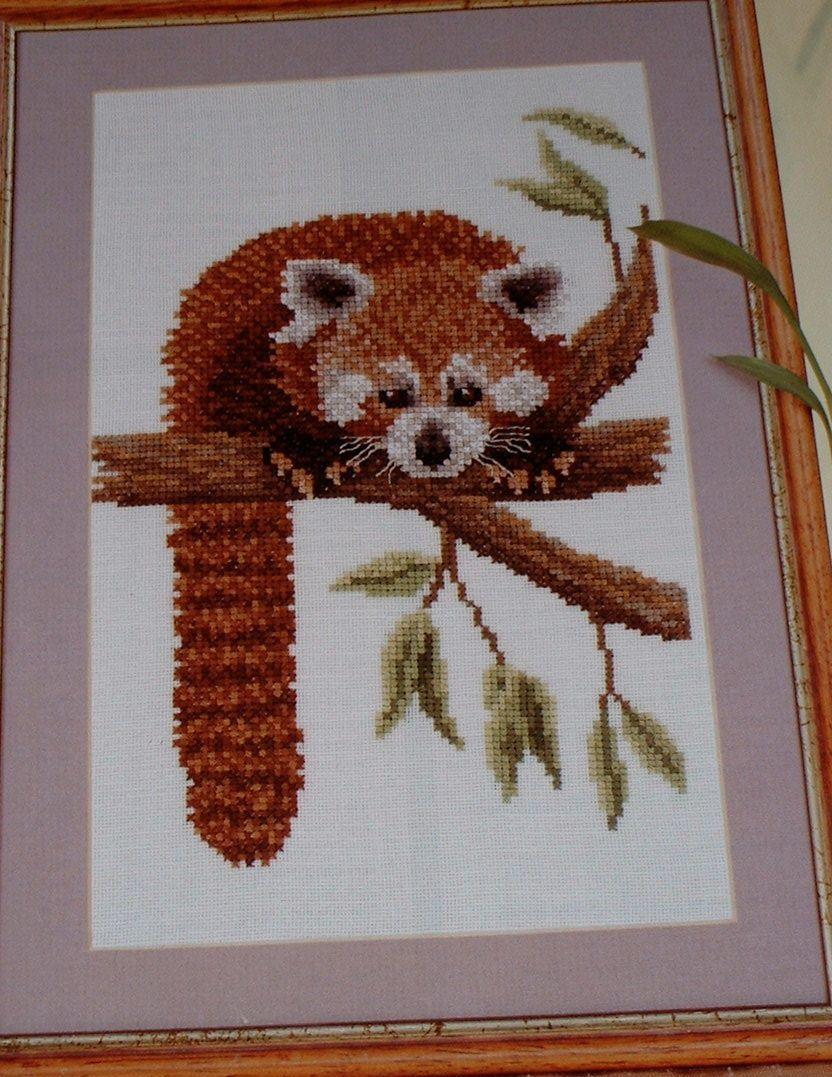 Himalayan Red Panda ~ Cross Stitch Chart