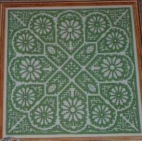 Geometric Floral Italian Assisi ~ Cross Stitch Chart