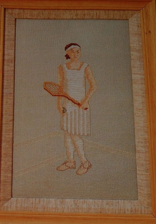1919 Female Tennis Player ~ Cross Stitch Chart