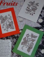 Three Tudor Fruits Blackwork Cards ~ Blackwork Patterns