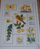 Yellow Nature Sampler ~ Cross Stitch Chart