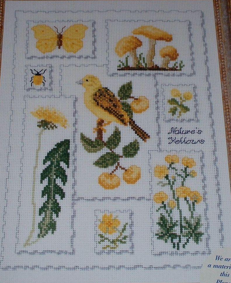 Yellow Nature Sampler ~ Cross Stitch Chart