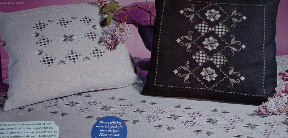 Hardanger Cushions & Table Runner ~ Hardanger Patterns