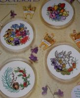 Thea Gouverneur: Four Seasons Coasters ~ Cross Stitch Charts