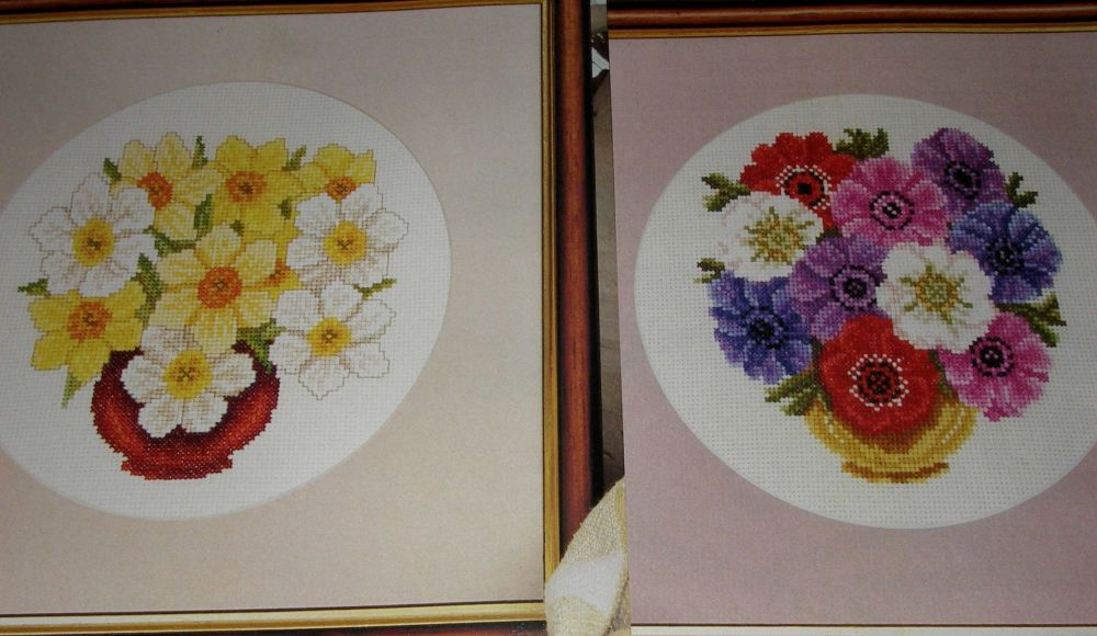 Daffodils and Anemones ~ Two Cross Stitch Charts