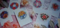 Posies of Flowers Cards ~ Six Cross Stitch Charts